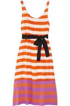 SONIA BY SONIA RYKIEL  Striped cotton and silk dress