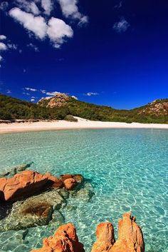 Costa Smeralda (Italy). Spiaggia del Principe.' near porto cervo, province of olbia tempio , Sardegna region http://www.lonelyplanet.com/italy/sardinia