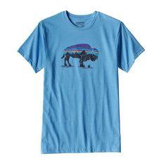 Patagonia Mens Fitz Roy Bison Short Sleeve T-Shirt in Radar Blue 39058-RAD
