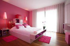 Pink bedroom in an enchanting zen villa in St. Pink Bedroom For Girls, Pink Bedroom Decor, Rustic Bedroom Furniture, Bedroom Wall Colors, Pink Bedrooms, Bedroom Ideas, Bedroom Pop Design, Bedroom False Ceiling Design, Home Room Design