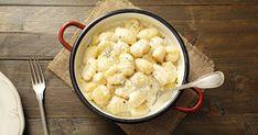 Delikátna talianska odpoveď na zemiakové šúľance!. Garlic Recipes, Pasta Recipes, Cheese Potatoes, Vegan Pasta, Parmigiano Reggiano, Garlic Sauce, Vegetarian Cheese, Lunch Recipes, Main Dishes