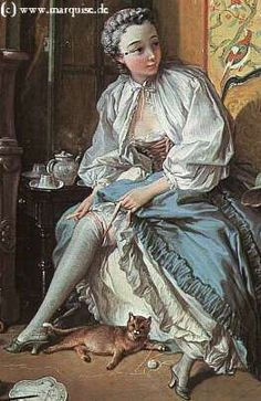 Lady Fastening Her Garter (otherwise known as La Toilette), François Boucher, 1742
