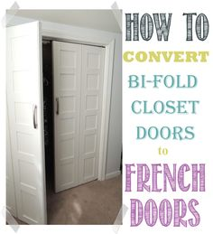 Convert Bedroom Bi-Fold doors to French Doors | WifeInProgressBlog.com