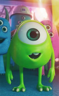 A set of 4 itty baby Mike Wazowski iPhone wallpapers 💞 Disney Pixar, Disney Animation, Disney Cartoons, Baby Disney, Disney Love, Disney Films, Disney Magic, Disney Art, Disney Phone Wallpaper