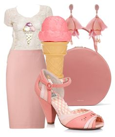 Let's have an ice cream by simonemenzanimarin on Polyvore featuring polyvore, fashion, style, Karl Lagerfeld, Uniqlo, Mansur Gavriel, Oscar de la Renta, Great Big Stuff and clothing