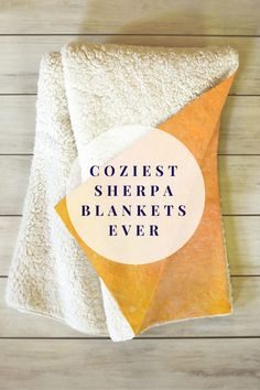 Fuzzy sherpa on one side and silky smooth fleece on the other. Coziest sherpa blankets ever.