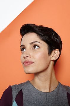 Hey, Shorty: 4 Rad 'Dos For Pixie Cuts #refinery29  http://www.refinery29.com/55218#slide10  All done! Pair this 'do with a dress to balance out the masculinity, or really go for it with a menswear-inspired outfit.
