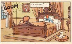 Chambre du Palais Royal - Le sceptre d'Ottokar • Tintin, Herge j'aime