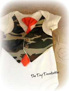 Baby Boy Camouflage One Piece With by TheTinyTrendsetter on Etsy, $26.00