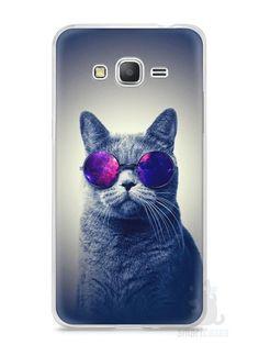 Capa Samsung Gran Prime Gato Galáxia #2 - SmartCases - Acessórios para celulares e tablets :)