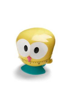 Beak the Clock Kitchen Timers by Kikkerland - Red, Yellow, Blue, Owls