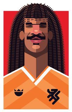 Football Players Vector Illustrations by Daniel Nyari