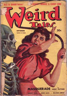 Images of Weird Tales Scary Comics, Horror Comics, Horror Art, Horror Books, Pulp Fiction Comics, Horror Fiction, Pulp Magazine, Magazine Covers, Science Fiction Magazines