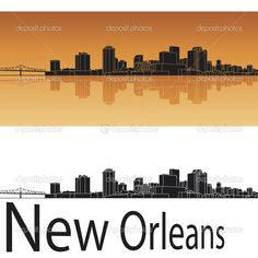 new orleans skyline silhouette - Google Search