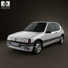 Peugeot 205 3-door GTI 1983-1998 3d model from humster3d.com. Price: $75