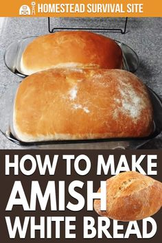 I've experimented with several bread recipes, and my current favorite is this Amish white bread recipe from Pratt Family Homestead. Bread Maker Recipes, Amish Recipes, Baking Recipes, Amish White Bread, Pizza, Artisan Bread, Bread Rolls, Bread Baking, Homesteading