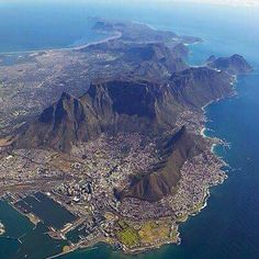 Get cheap flights from Boston to Cape Town, Africa. Search on FlyABS for cheap flights and airline tickets to Cape Town from Boston. Places To Travel, Places To Visit, Le Cap, African Nations, Cape Town South Africa, Most Beautiful Cities, Africa Travel, Day Tours, Aerial View