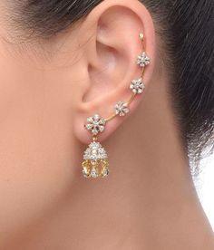 Diamond Jewelry Women's New Choice Of Jewellery Is Artificial Jewellery – Fashion Industry Network Ear Jewelry, Cute Jewelry, Wedding Jewelry, Diamond Jewelry, Gold Jewelry, Jewelry Making, Jewelry Box, Jewellery Bracelets, Jewelry Drawer
