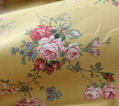 Cotton Fabric Romantic Roses in Mustard 1 Yard 20021 by landofoh, $10.60