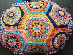 Turtle back - made of Granny Square Hexagons
