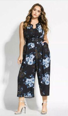 71f1788453e City Chic Sz XS 14 Bonsai Floral Jumpsuit NWT  fashion  clothing  shoes