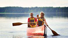 Canoeing trip from Husky Farm to Reindeer Farm, 3 hours -Rovaniemi, Lapland, Finland