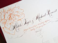 Hand drawn Guest Signature Scroll. $75.00, via Etsy.
