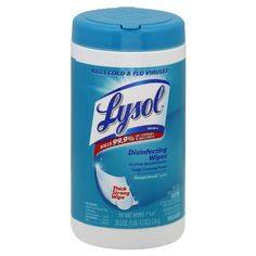 Lysol Disinfecting Wipes, Ocean Fresh, 80 Wet Wipe cannisters, (Pack of 2),$11.98  Save 20% on Lysol Disinfectant Wipes,