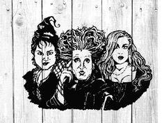Halloween Yard Art, Halloween Drawings, Halloween Ideas, Happy Halloween, Halloween Decorations, Disney Family Tshirts, Halloween Silhouettes, Sanderson Sisters, Recycled Art