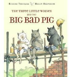 This altered retelling of the traditional tale relates the conflict between pig and wolf — with a surprise ending.