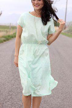 Robe cousu avec le tissu triange Arizona de chez Art Gallery