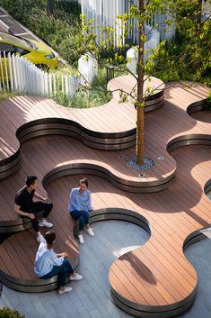 Urban Furniture, Street Furniture, Concrete Furniture, Landscape Architecture Design, Interior Architecture, Concrete Architecture, Architecture Diagrams, Landscape Architects, Landscape Designs