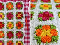 Het was alweer een tijdje geleden dat ik mijn laatste granny squares haakte, maar onlangs heb ik ze weer gehaakt. Ik noem ze granny square Madelief. Een bijzondere granny met bloempjes in het midden.