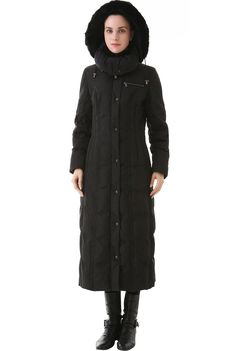 "Phistic Women's ""Lacey"" Long Hooded Puffer Down Coat at Amazon Women's Coats Shop"