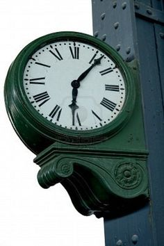 old train station clock