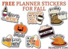 Fall Main Planner Stickers
