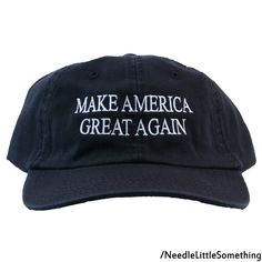 303123cd587 Make America Great Again Embroidered Dad Hat with Adjustable Strap (Black)