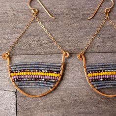 Golden Boat Earrings ~ Ship & Shape