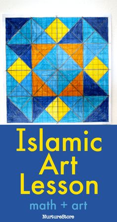 islamic art lesson for children, geometric art lesson for kids, Art Lessons For Kids, Art Lessons Elementary, Art For Kids, Islamic Art Pattern, Pattern Art, Primary School Art, Steam Art, Symmetry Art, Triangle Art