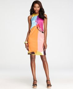 Tall Kaleidoscope Shift Dress