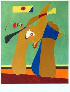 Joan Miro  Woman | Femme, 1958  Hand Signed and Numbered Lithograph in Colours on Arches Wove Paper