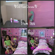Karen Mom of Three's Craft Blog: Why not make a a doll room?