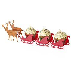 Santa's Sleigh Cupcake Stand - from Lakeland