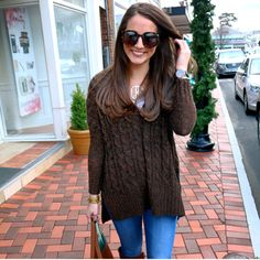 This sweater is currently on SALE at Nordstrom! Shop it at www.simplylaurenrose.com!