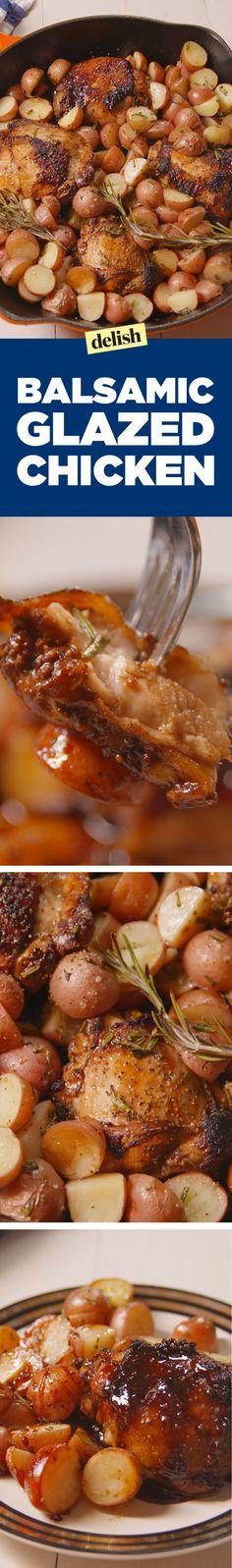 Balsamic Glazed Chicken  - Delish.com