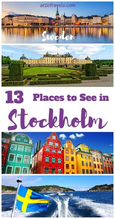 13 must-see places in Stockholm, Sweden for first time visitors. What to see and do when in Stockholm?<br> Find out about the best things to do in Stockholm in 3 days. Here are tips for what to do in - a Stockholm itinerary. Backpacking Europe, Europe Travel Guide, Europe Destinations, Travel Guides, Travel Hacks, Europe Packing, Traveling Europe, Packing Lists, Travel Packing