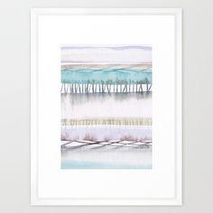 Abstract Fields, framed #watercolor art print by Jocelyn Edin #gardenofedin