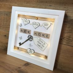 Personalised Childrens Gifts, Personalized Wedding, Personalized Gifts, Deep Frame Ideas, Medal Hangers, Scrabble Words, Diy Shadow Box, Wedding Frames, Wedding Anniversary Gifts
