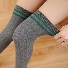 33c98c394ce College Wind Women Fashion Hot Thigh High Socks Sexy Warm Cotton  Overintotham