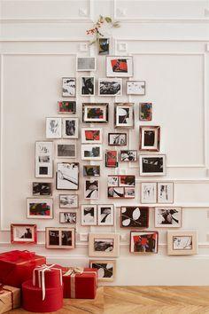 #ZaraHome #Christmas 2016 - Alternative #Christmastree of #Photoframes